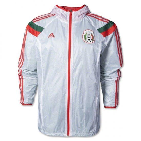 Adidas Mens Mexico 2014 Anthem Jacket White Poppy D83726