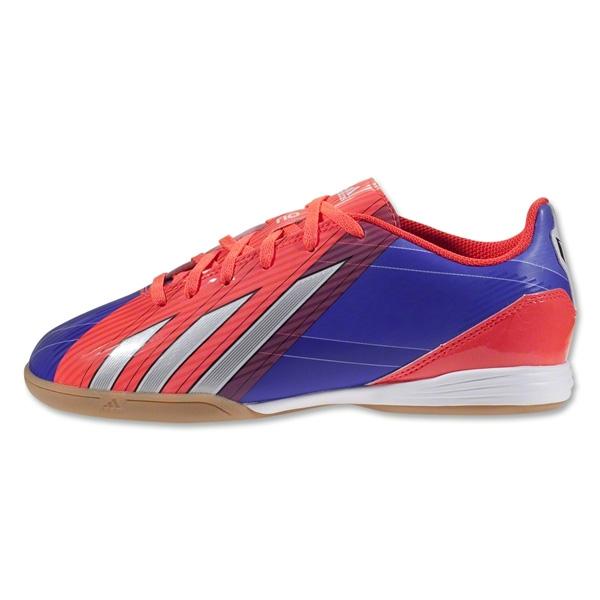 Adidas Jr Messi F10 TRX Indoor Soccer Shoes Turbo/Black/Running Whitet G97726