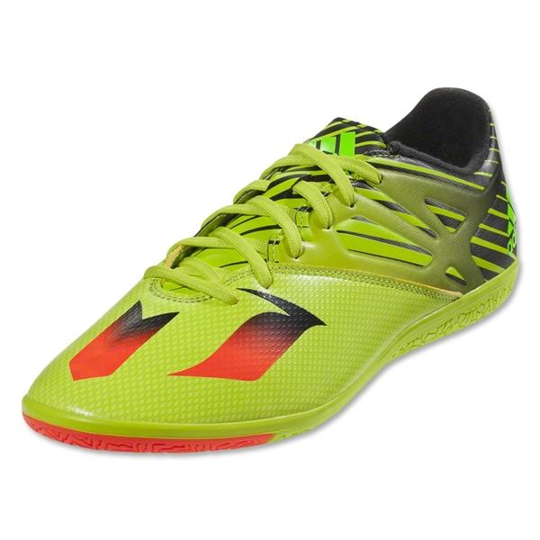 Adidas Jr Messi 15.3 Indoor Soccer Shoes Semi Solar Slime/Solar Red S74692   EBay