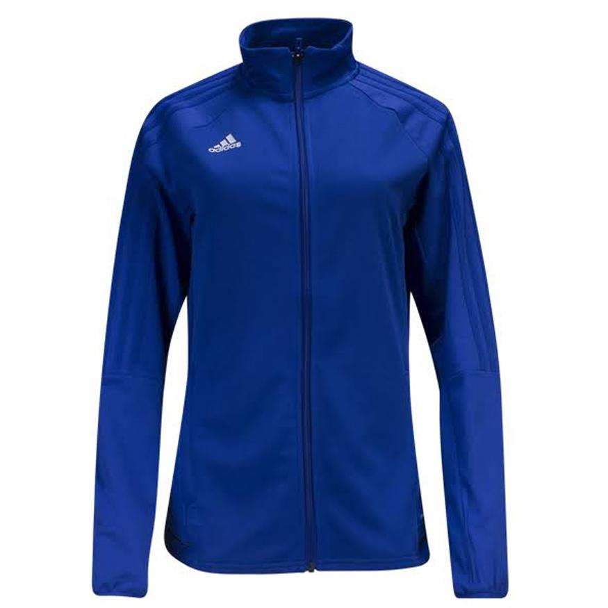 b254206f062d adidas Women s Tiro 17 Training Jacket Bold Blue Black White BQ8245 ...
