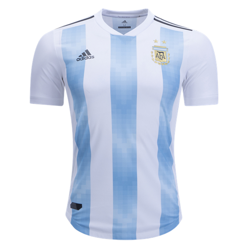 e7d79a606 adidas Men s Argentina 18 19 Authentic Home Jersey White Clear Blue ...
