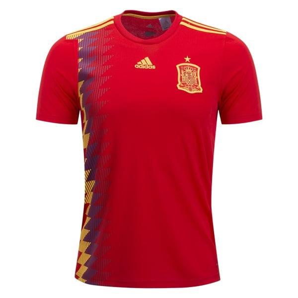 Lirio Jugar con Canciones infantiles  adidas Youth Spain 18/19 Home Jersey Red/Bold Gold BR2713 | eBay