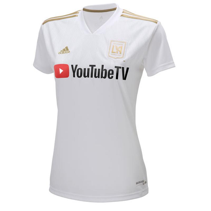 best website c358d c0861 Details about adidas Women's LAFC 18/19 Away Jersey White/Gold CE3280