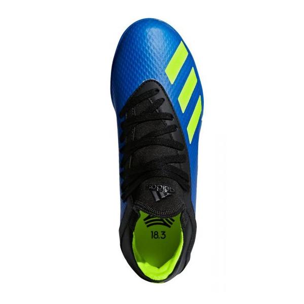 5aad715e67f82a adidas Kids X 18.3 Turf Soccer Shoes Footblue Solar Yellow Core ...