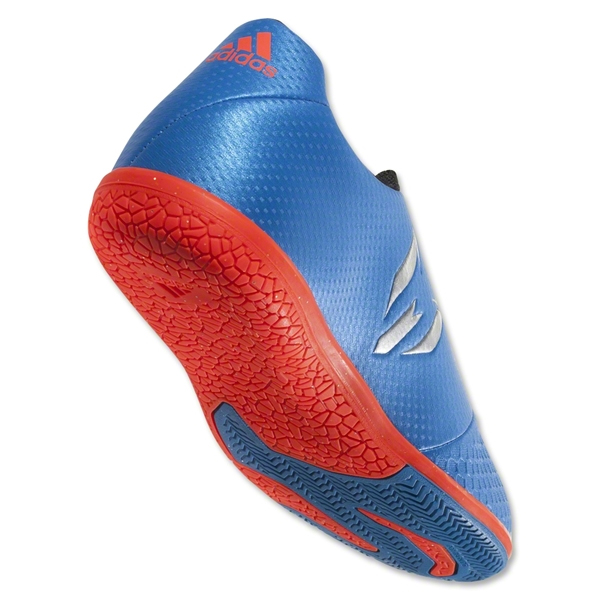 9c9f59e64a81 adidas Jr Messi 16.3 Indoor Soccer Shoes Sho Blue Metalic Silver ...